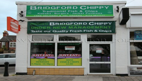 Photo of Bridgford Chippy fish and chips plus fast food takeaway in West Bridgford near Nottingham