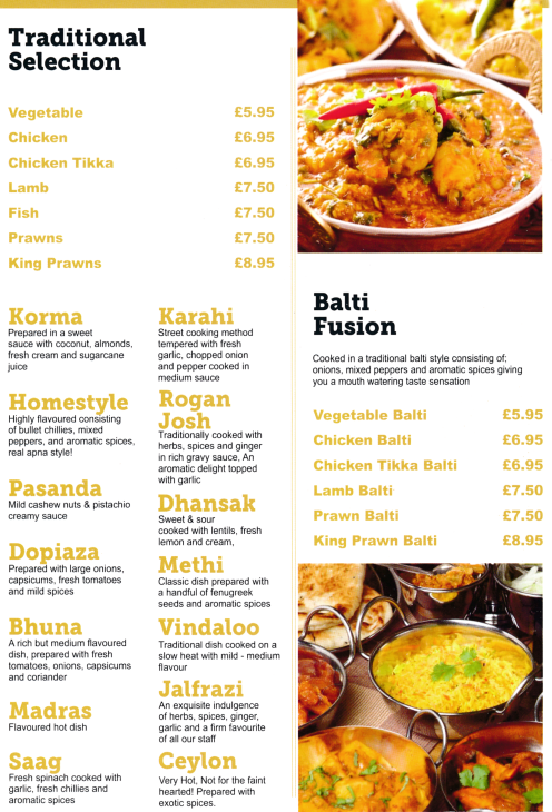 Indian Food Delivery Leicester