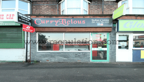 Currylicious In Sneinton Nottingham Menu Phone Number