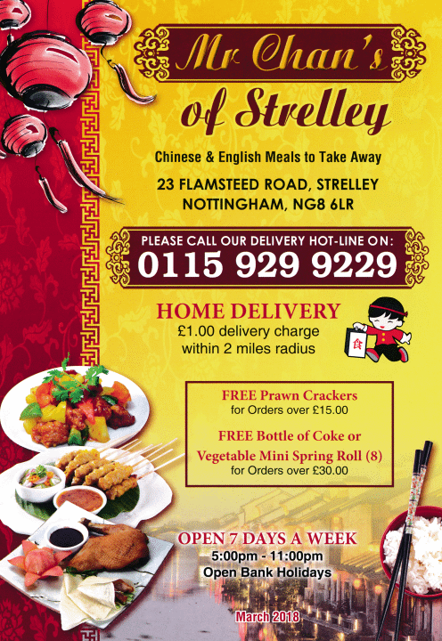 Menu For Mr Chans Chinese Thai Takeaway In Strelley