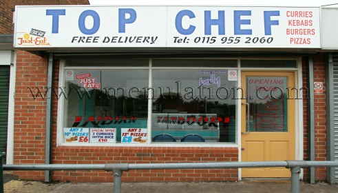 Top Chef In Hucknall Menu Opening Hours Phone Number