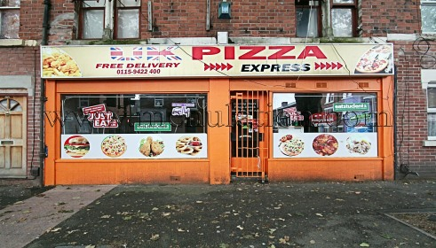 Photo of UK Pizza Express; pizza and fast food takeaway in Radford, Nottingham